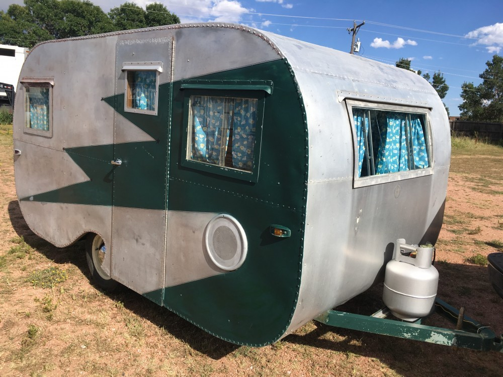 1953 Hand Made Riveted Aluminum Travel Trailer, Colorado ...