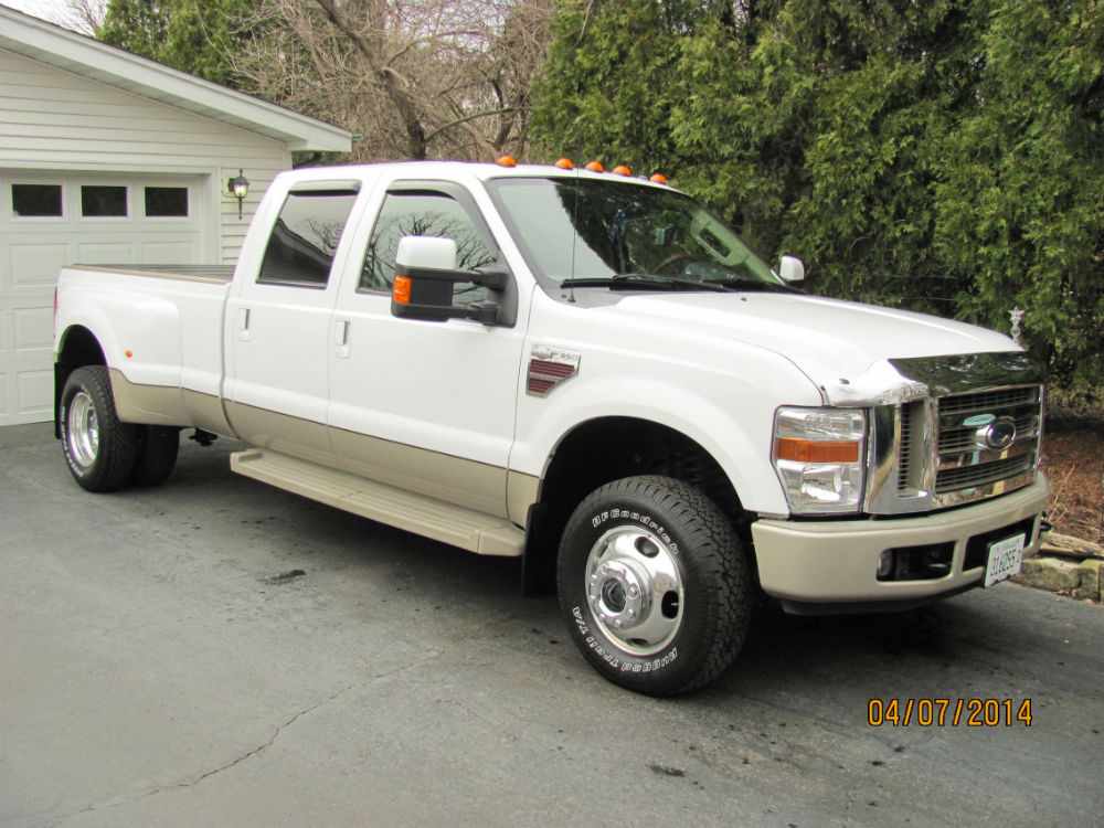 2008 ford f350 super duty 4x4 king ranch crew cab dually 6 4l turbo diesel engine. Black Bedroom Furniture Sets. Home Design Ideas
