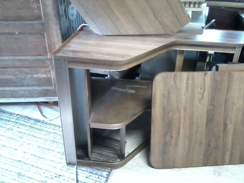 1985 Excella Credenza Fold Out Table Little Shelf That