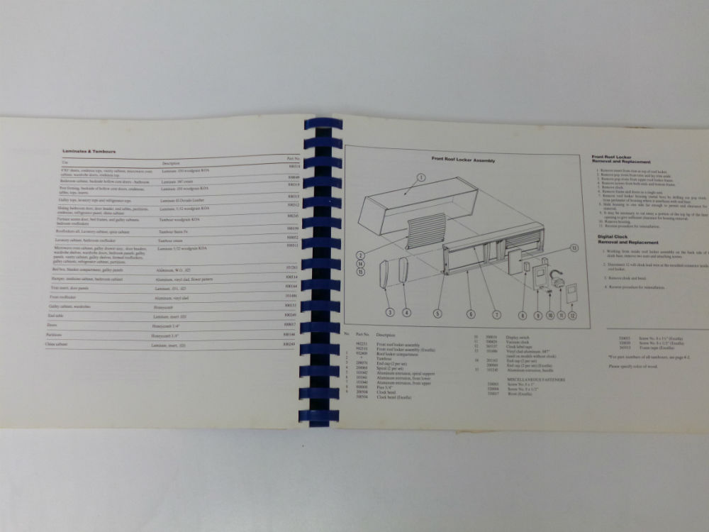 1979 airstream service manual original excellent condition rh airstreamclassifieds com airstream interstate parts manual Airstream Argosy Parts