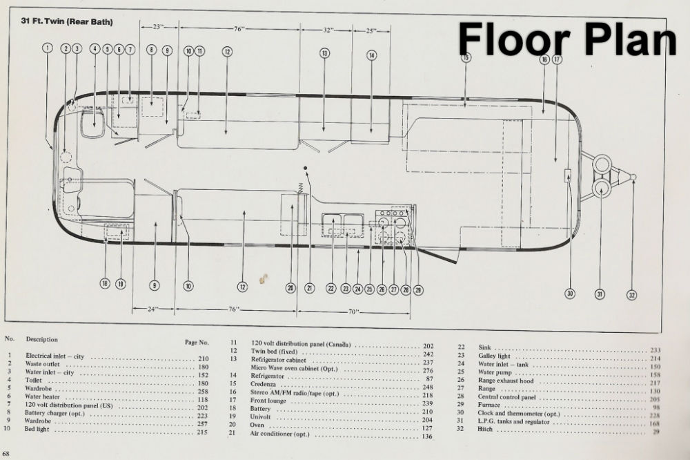 floor plan - airstream trailer classifieds