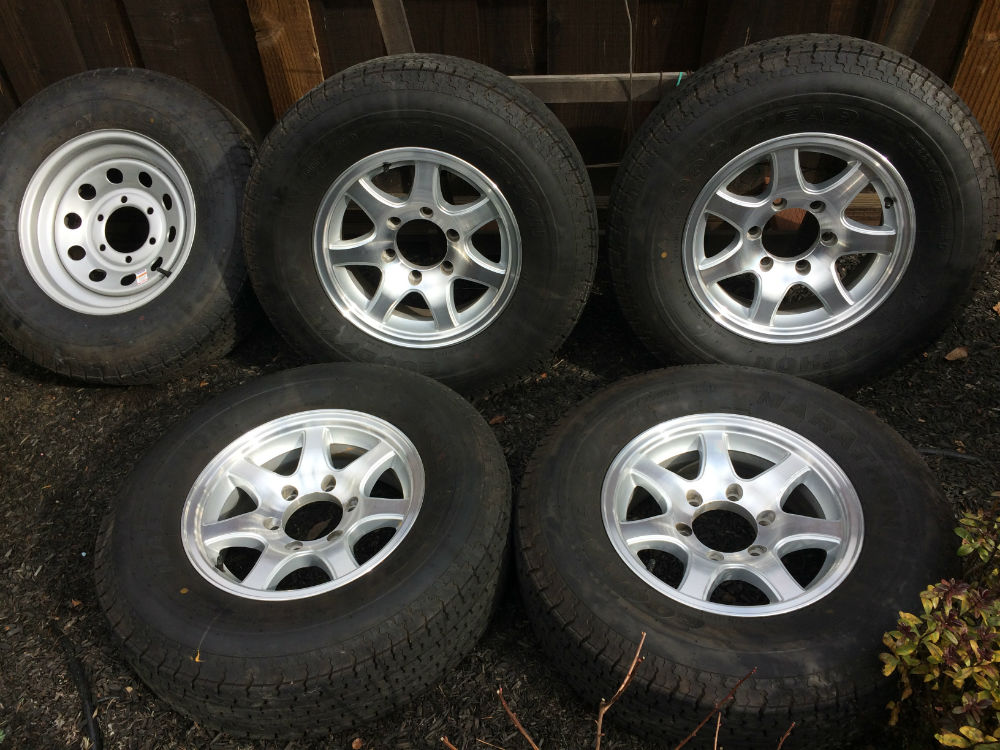 Size 15 Tires >> 5 Airstream tires & wheels/perfect condition