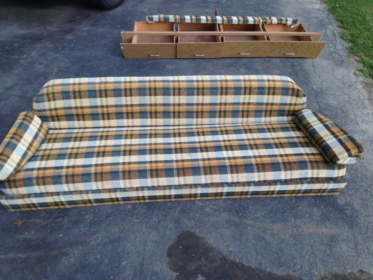 New AIRSTREAM GAUCHO SOFA BED COUCH DRAWERS SHELVES FRAME