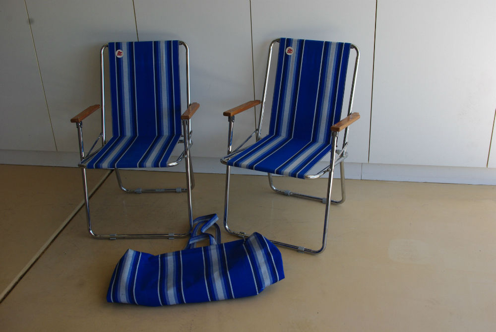 Blue Zipdee Chairs And Carry Bag