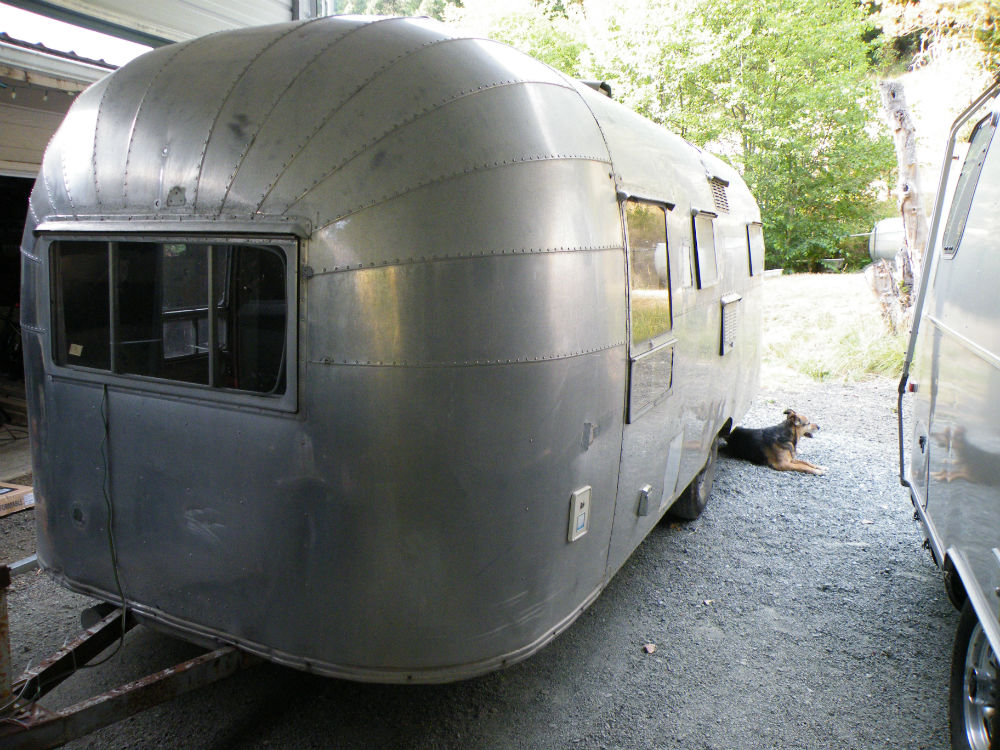 1955 airstream flying cloud 22 oregon. Black Bedroom Furniture Sets. Home Design Ideas