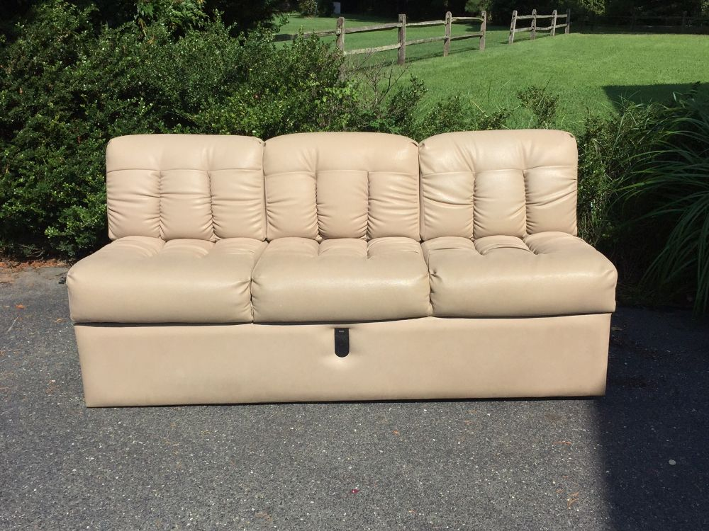 Faux Leather Fold Down Couch From 2000 Excella