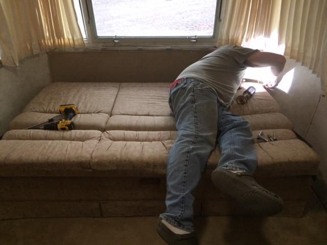 Airstream Jack Knife Sofa Bed