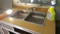 Airstream 1972 Tradewind Stainless Steel Sink and faucet
