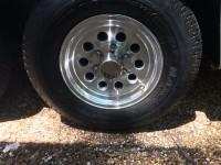 Two – SENDEL  15″ Aluminum 6 lug 5.5 10 hole wheels