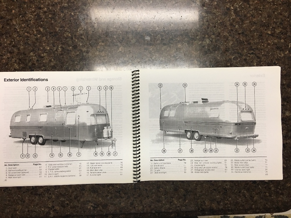 1979 airstream owner s manual and service manual rh airstreamclassifieds com Airstream Nest Interior Airstream Sport