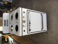 Vintage Brown oven and Marvel refrigerator.
