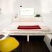 Queen bed open sleeping area