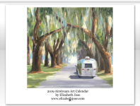 2019 Airstream Art Calendar by Elizabeth Jose
