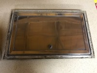 1960s complete trailer compartment door W/ frame and key