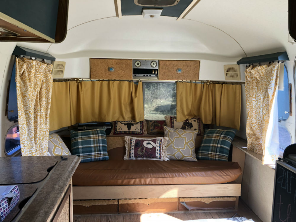 Swell Vintage Airstream Couch Gaucho Andrewgaddart Wooden Chair Designs For Living Room Andrewgaddartcom