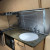 Granite-look counters - microwave - gas oven and burners