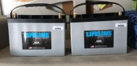 Two Brand New Lifeline AGM Batteries