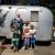 65 Airstream & Gramps,Grandkids