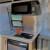 Kitchen, microwave, stove top, sink, fridge