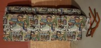 Airstream Jackknife Sofa, Goucho, Just Reupholstered w/Route 66 Fabric! Must See!